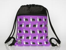 Kordelzugtasche violett