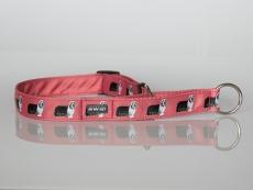 Zugstopp-Halsband mit Beardie-Aufdruck koralle