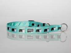 Zugstopp-Halsband mit Beardie-Aufdruck mint