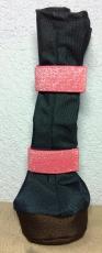 Premium Beardie Boots - dunkelblau/Glitzergummi pink - atmungsaktiv! Für Hündinnen