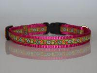 Halsband, pink-grün