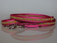 Leine, 250 cm, verstellbar, pink-grün