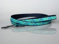 Leine, 150 cm, blau-türkis