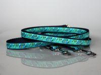 Leine, 250 cm, verstellbar, blau-türkis