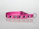 Zugstopp-Halsband mit Beardie-Aufdruck pink