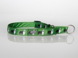Zugstopp-Halsband mit Beardie-Aufdruck grün